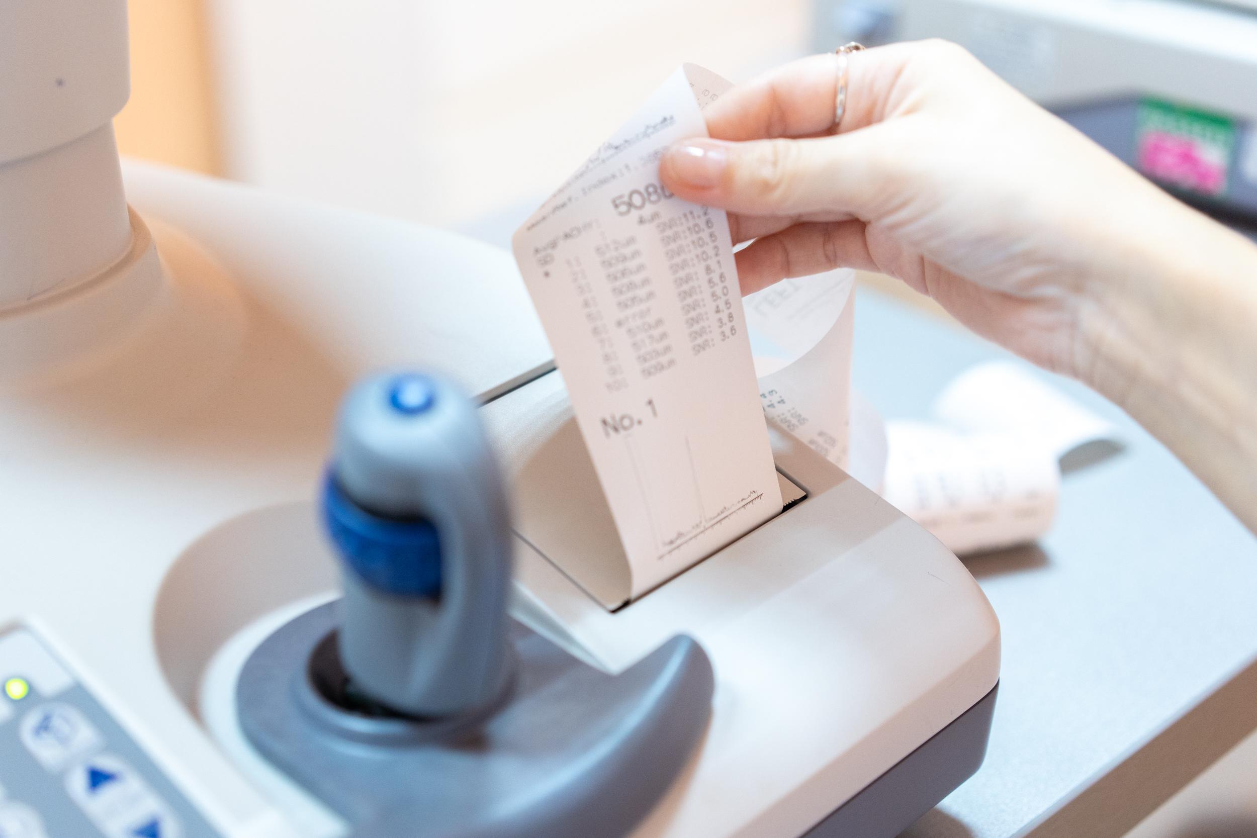 чек с показаниями из авторефрактометра